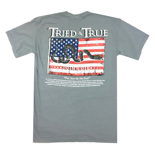 Tried and True Comfort Color Join or Die Flag Short Sleeve T-shirt