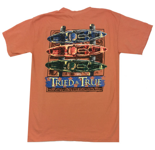 Tried and True Comfort Color Kayak Stand Short Sleeve T-shirt
