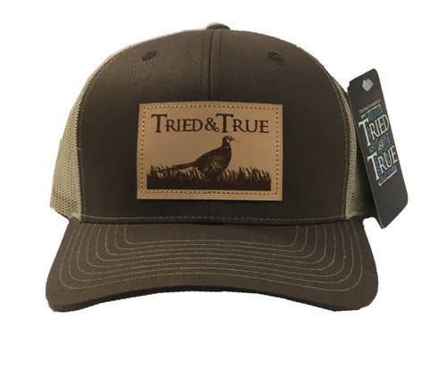 Tried and True True Pheasant Leather Patch Mesh Back Hat