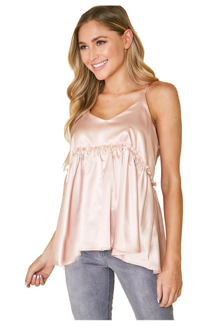 Peach Love Solveig Solid Sleeveless Woven Top