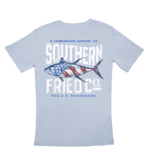 Southern Fried Cotton Red, White, & Tuna Short Sleeve T-Shirt