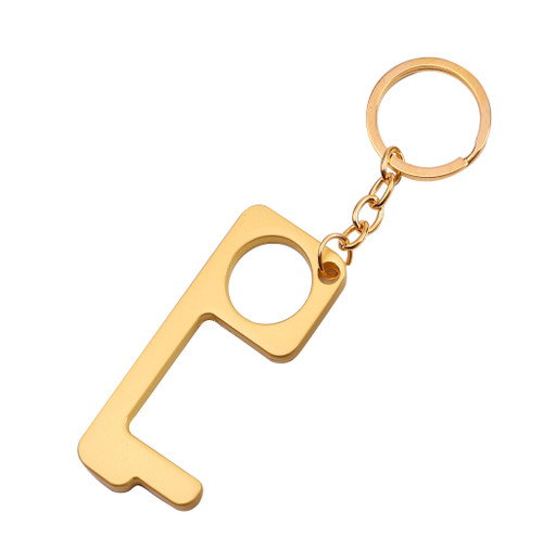 Katydid Collection Metal Hands Free Keychain Gold