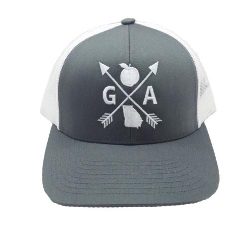 Heritage Pride Embroidered Georgia Peach State Arrow Snapback Hat
