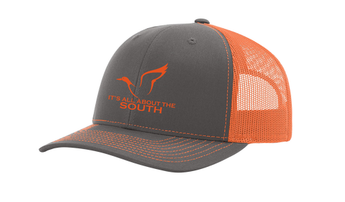It's All About The South Mallard Outline Mesh Back Trucker Hat