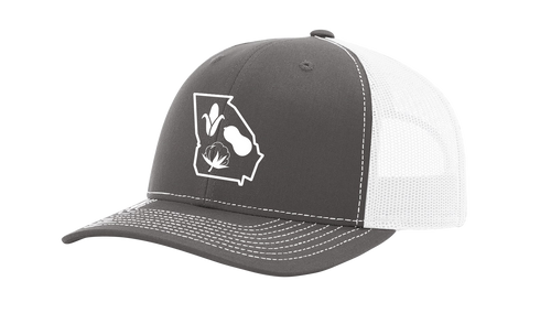 It's All About The South Georgia Outline With Crops Mesh Back Trucker Hat