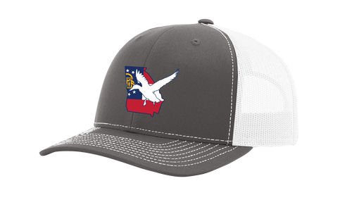 It's All About The South Georgia State Flag and Duck Mesh Back Trucker Hat