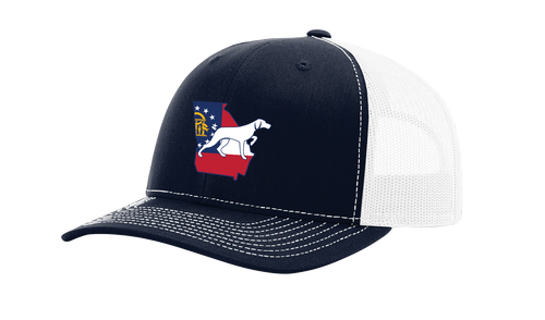 It's All About The South Georgia State Flag and Dog Mesh Back Trucker Hat