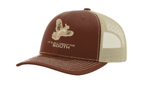 It's All About The South Quail Mesh Back Trucker Hat