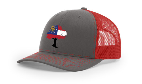 It's All About The South Georgia Flag Filled Oak Mesh Back Trucker Hat