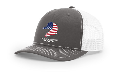 It's All About The South American Flag Filled Wood Duck Mesh Back Trucker Hat