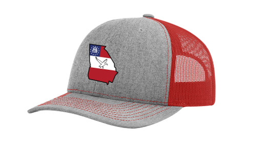 It's All About The South Flag Filled Georgia State With Duck Mesh Back Trucker Hat