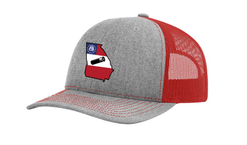 It's All About The South Flag Filled Georgia State With Shotgun Shell Mesh Back Trucker Hat