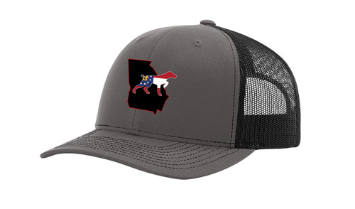 It's All About The South Georgia State with Flag Filled Dog Mesh Back Trucker Hat