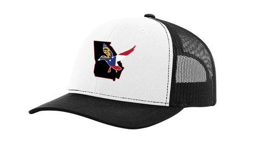 It's All About The South Georgia State with Flag Filled Duck Mesh Back Trucker Hat