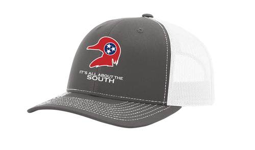 It's All About The South Tennessee State Flag Filled Wood Duck Mesh Back Trucker Hat