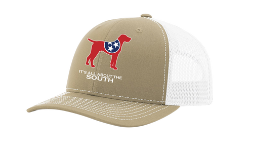 It's All About The South Tennessee State Flag Filled Pointer Mesh Back Trucker Hat