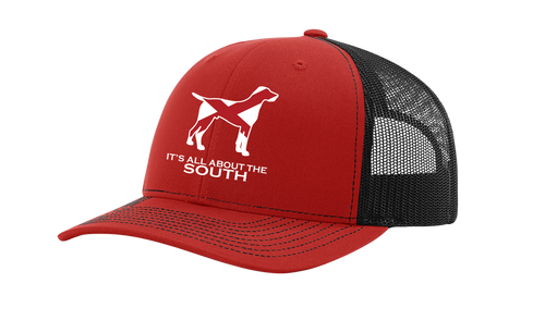 It's All About The South Alabama State Flag Filled Pointer Mesh Back Trucker Hat