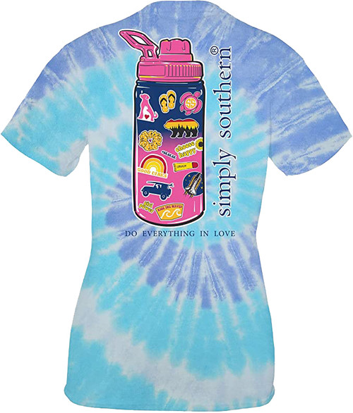 Simply Southern Waterbottle with Stickers Short Sleeve T-Shirt