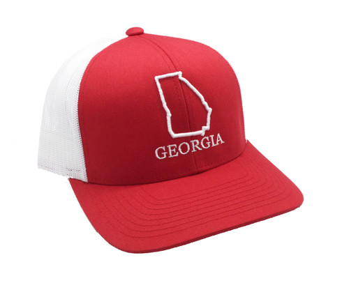 Heritage Pride Georgia State Outline Embroidered Trucker Hat