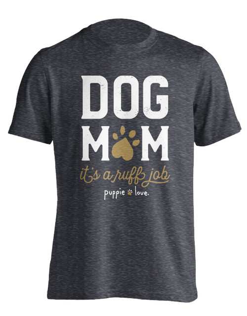Puppie Love Dog Mom Adult Short Sleeve T-Shirt