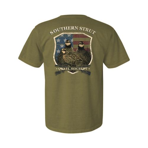 Southern Strut Quail Shield Unisex Comfort Colors Short Sleeve T-Shirt