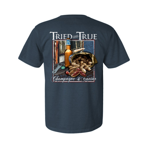 Tried and True Champagne Caviar Unisex Comfort Colors Shirt Sleeve T-Shirt