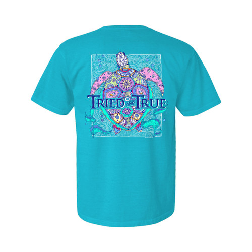 Tried and True Sea Turtles Unisex Comfort Colors Shirt Sleeve T-Shirt