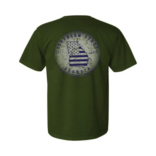 Southern Strut GA Circle Unisex Comfort Colors Short Sleeve T-Shirt