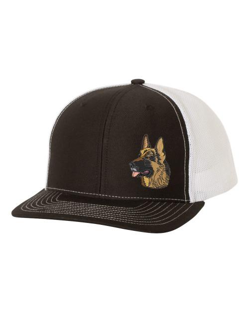 Men's Embroidered German Shepherd Head Dog Breed Mesh Back Trucker Hat