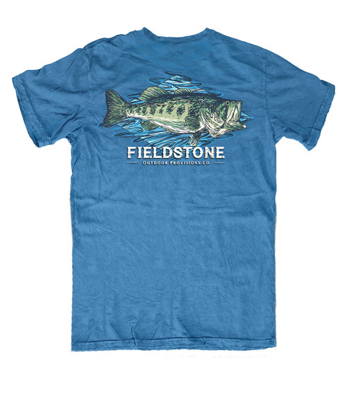 Fieldstone Outdoors Provisions Co. Largemouth Bass Comfort Colors Unisex Short Sleeve T-Shirt