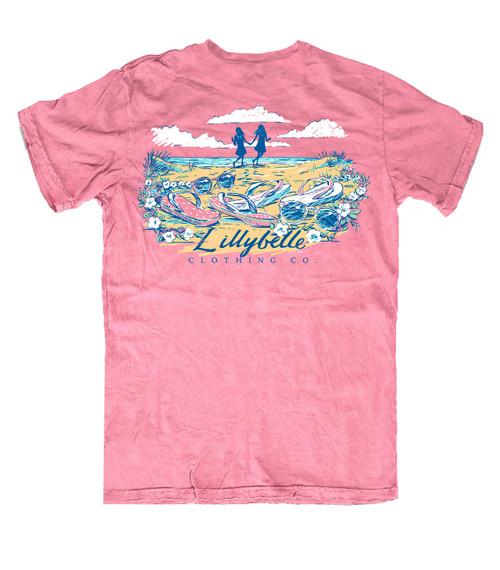 Lillybelle Clothing Women's Flip Flops Comfort Colors Short Sleeve T-Shirt