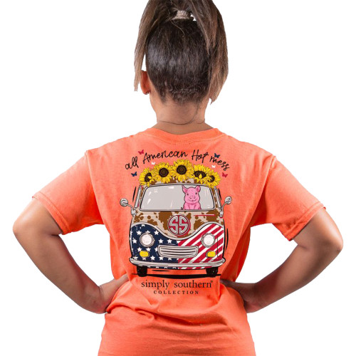 Simply Southern Youth All American Hot Mess Short Sleeve T-Shirt