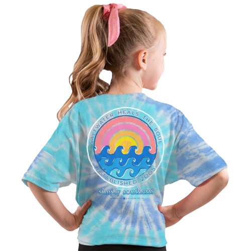 Simply Southern Youth Salt Water Heals My Soul Short Sleeve T-Shirt
