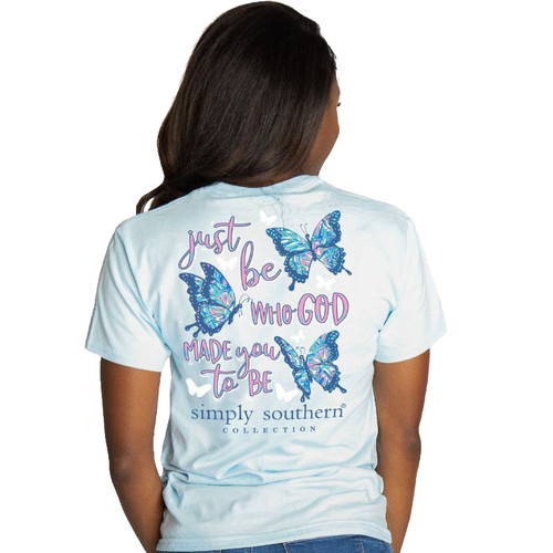 Simply Southern Youth Just Be Who God Made You To Be Short Sleeve T-Shirt