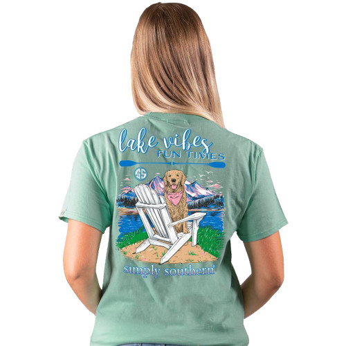 Simply Southern Youth Lake Vibes Fun Times Dog Short Sleeve T-Shirt