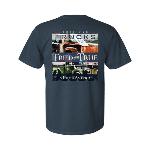 Tried and True American Trucks Only In America Adult Unisex Short Sleeve T-Shirt