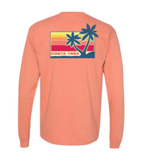 Costa Del Mar Seaside Unisex Garment Dyed Long Sleeve T-shirt