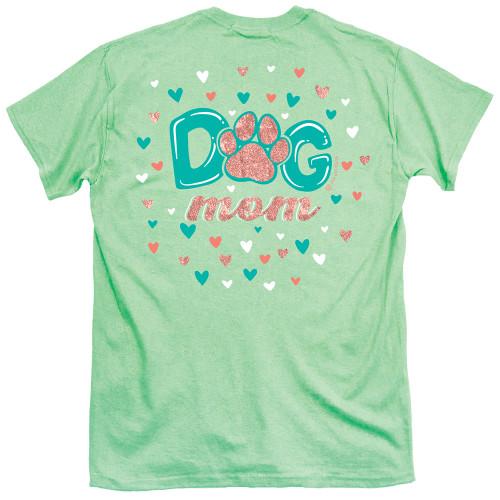 Itsa Girl Thing Dog Mom Pawprint Adult Ladies Short Sleeve T-Shirt