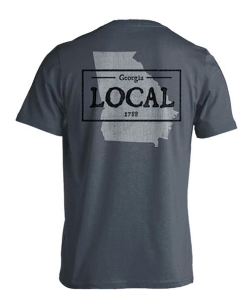 Live Oak Brand Local Georgia State Tag Adult Short Sleeve Comfort Colors T-Shirt