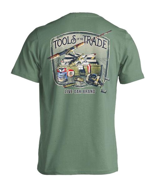 Live Oak Brand Tools Of The Trade Freshwater Fishing Adult Short Sleeve Comfort Colors T-Shirt