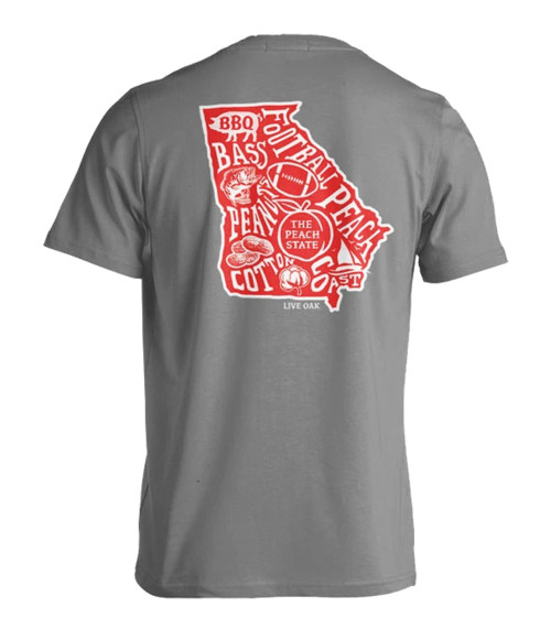 Live Oak Brand Georgia Stated Adult Short Sleeve Comfort Colors T-Shirt