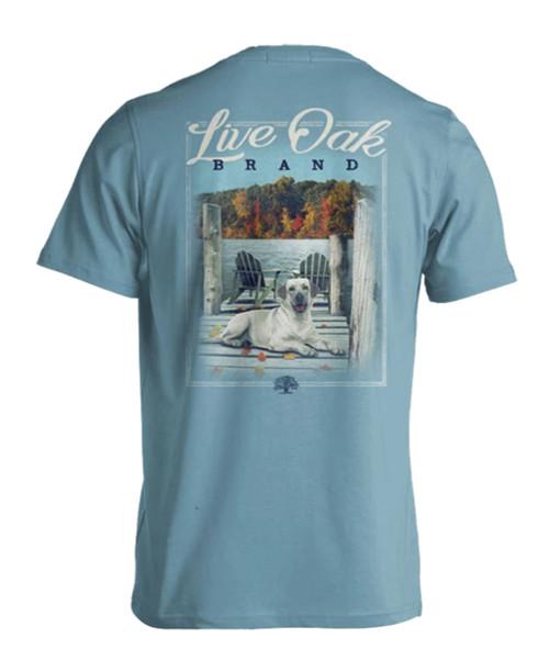Live Oak Brand Lake Dock Dog Adult Short Sleeve Comfort Colors T-Shirt