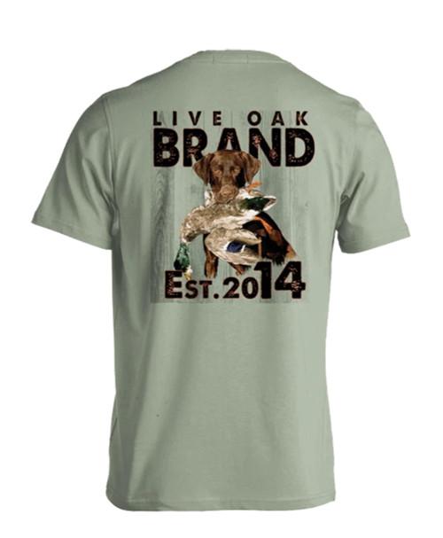 Live Oak Brand Mallard Dog Est 2014 Adult Short Sleeve Comfort Colors T-Shirt