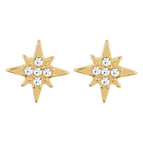 Whispers Dainty Stud Earrings Star Blast, Gold