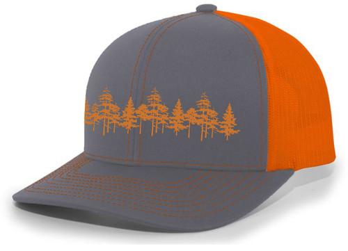 Tamarack Trees Forest Pine Woods Men's Embroidered Mesh Back Trucker Hat