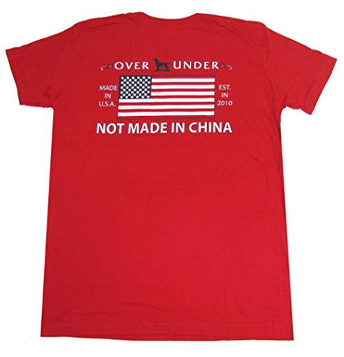 Over Under Youth Made in The USA Tee Shirt yl Red