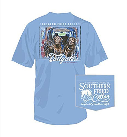 Southern Fried Cotton Tai aters Short Sleeve Shirt Faded Jeans