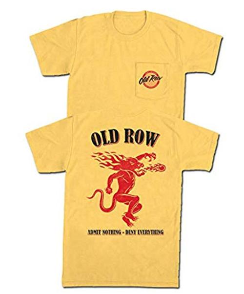 Old Row Spicy Shot Comfort Color Pocket Tee Shirt Black