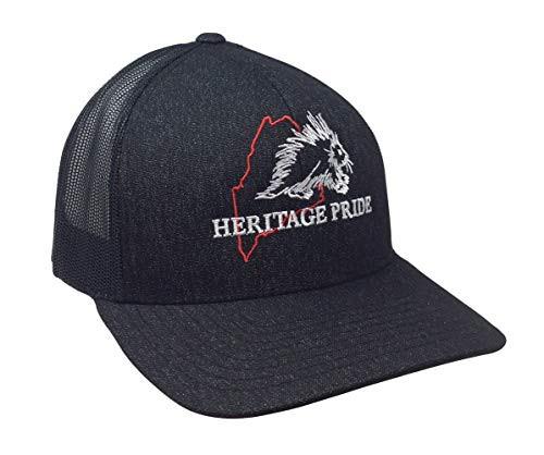 Heritage Pride Maine Porcupine State Pride Trucker Mesh Hat  Black Heather Black Mesh