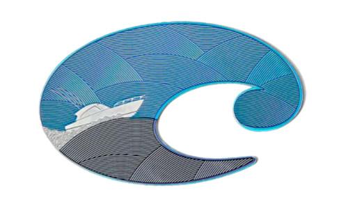 """Costa Del Mar Premium Metallic Vessel C Logo Decal, 3"""""""